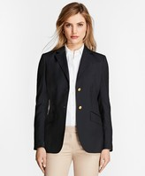 Brooks Brothers Petite Two-Button Wool Blazer