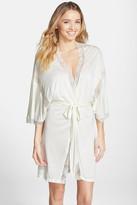 Eberjey Lace Trim Jersey Kimono Robe
