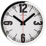 "Oliver Hemming Wall Clock with Big Bold Number and Minute Reader Dial (16"")"