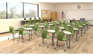 Apex Classroom Set: 12 Desks & 12 Chairs Marco Group Inc. Desk Finish: Gray, Frame Finish: Black, Seat Color: Apple