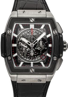 Hublot Black Ceramic And Titanium Spirit of Big Bang 601.NM.0173.LR Men's Wristwatch 40 MM