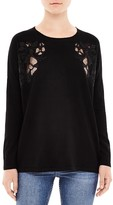 Sandro Benny Lace-Inset Sweater