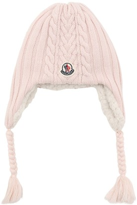 Moncler Boucle Wool & Terrycloth Hat