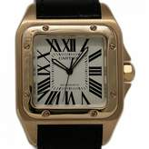 Cartier Santos 100 White Pink gold Watches