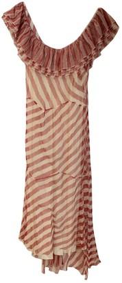 Sonia Rykiel Red Cotton Dress for Women Vintage