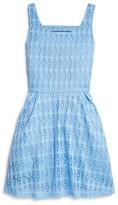 Aqua Girls' Geometric Lace Dress - Sizes S-XL