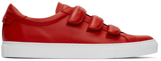Givenchy Red Velcro Urban Knots Sneakers