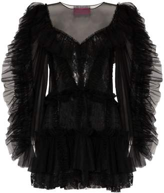 Viktor & Rolf ruffled tulle mini dress