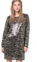 Vila Sparkly Tiger Print Dress with Cutout Back