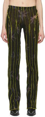 Helenamanzano SSENSE Exclusive Green 3D Stripe Lounge Pants