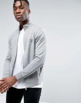 BOSS ORANGE by Hugo Boss Zipthru Sweatshirt Logo in Gray Marl