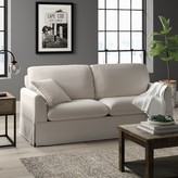 "BEIGE Liberty Hill 81"" Recessed Arm Sofa Greyleigh Fabric"