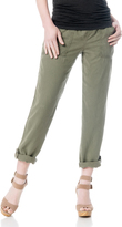 A Pea in the Pod Splendid Pull On Style Cotton Woven Skinny Leg Maternity Pants