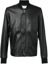 Officine Generale leather bomber jacket - men - Leather/Acetate/Viscose - M