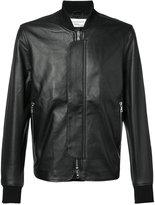 Officine Generale leather bomber jacket - men - Leather/Acetate/Viscose - M