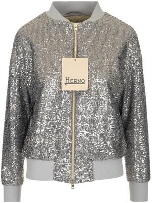 Herno Sequin Bomber Jacket