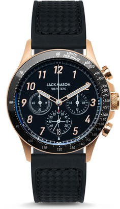 Jack Mason Camber Racing Chronograph Rubber Strap Watch, 42mm