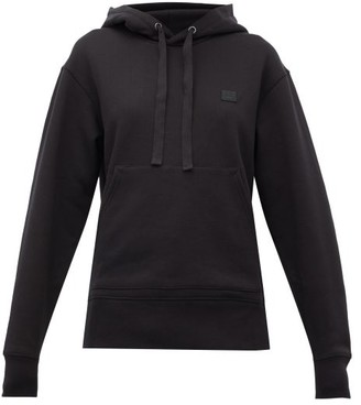 Acne Studios Ferris Face Cotton Hooded Sweatshirt - Black