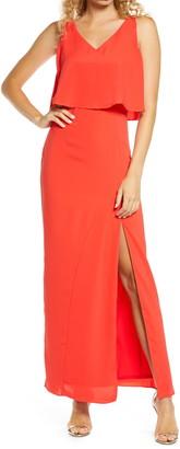 Zzdnu Romance Womens Fragrance Romance Mystic Popover Maxi Dress