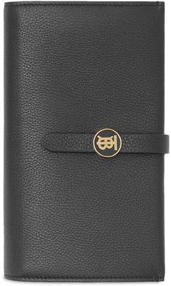 Burberry Leather Monogram Motif Clasp Wallet