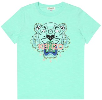 Kenzo Tiger Logo cotton-blend T-shirt