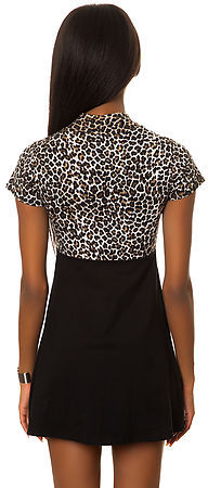 Motel The Lydia Dress in 90s Leopard and Black