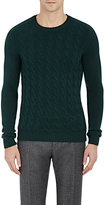 Zanone MEN'S CABLE-KNIT SWEATER-GREEN SIZE M