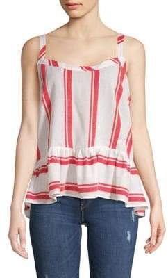 Republic Striped Peplum Tank