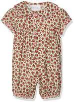 Rachel Riley Baby Girls' Floral Ric Rac Trim Babysuit Bodysuit