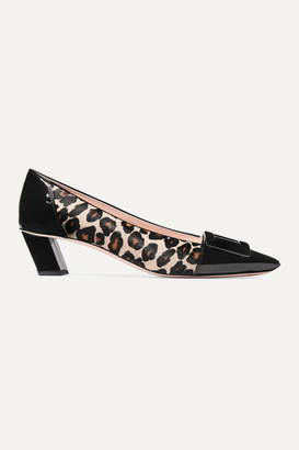 Roger Vivier Belle Vivier Decollete Leopard-print Calf Hair And Patent-leather Pumps - Leopard print