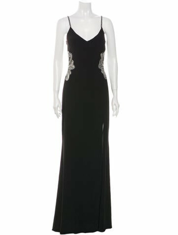 Thumbnail for your product : Avery G V-Neck Long Dress w/ Tags Black