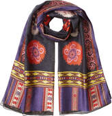 Etro Printed Scarf with Wool, Silk and Mohair