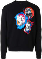 Versus printed patch sweatshirt
