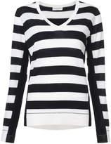 Sonia Rykiel striped V-neck jumper