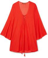 Missoni Mare Pizzo Crochet-knit Kaftan - Red