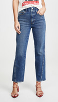 Good American Good Straight Twisted Seam Jeans