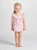 Oscar de la Renta Baby Mini Daisy Toss Cotton Frill Sleeve Dress