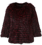 Yves Salomon collarless jacket - women - Fox Fur/Polyamide/Polyester/Viscose - 36