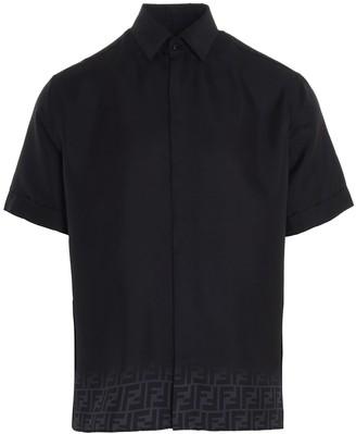 Fendi FF Motif Gradient Short-Sleeve Shirt
