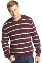Gap Cable knit stripe crew sweater