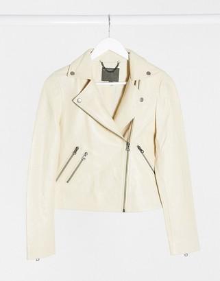 Muu Baa Muubaa classic leather jacket in cream