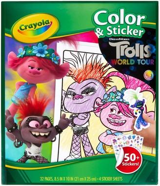 Crayola DreamWorks Trolls World Tour Color & Sticker Activity