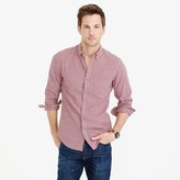 J.Crew Slim oxford shirt in navy and red check