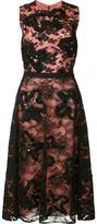 Oscar de la Renta scuba floral lace dress - women - Polyamide/Viscose - 12