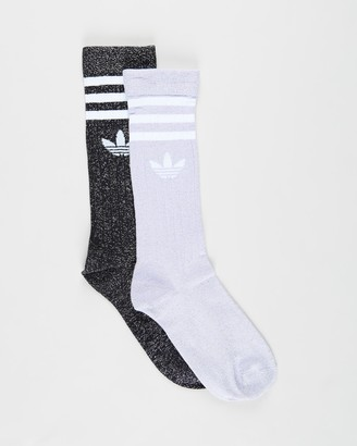 adidas Women's Black Socks - Full Glitter Crew Socks - Size S at The Iconic