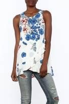 Entro Floral Print Sleeveless Top