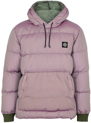 Stone Island Purple quilted seersucker jacket