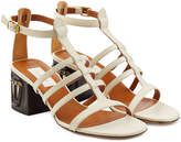 Valentino Leather Sandals with Mask-Adorned Heels