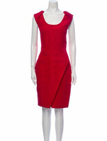 Thumbnail for your product : J. Mendel Scoop Neck Knee-Length Dress Red