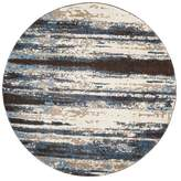 Safavieh Retro Collection RET2138 Rug, Cream/Blue, 8' Round